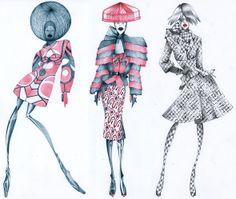 Автор eskavi Когда карандаш и бумага помогают жить по мотивам Alexander McQueen