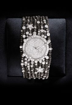 Chanel Timepiece ~ 18K Gold w White and Black Diamonds