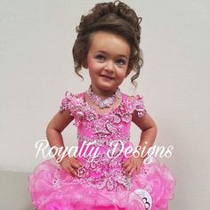 Royalty Designs custom designed pageant attire pageant attire. See my website for ordering your fabulous new design. Www.royaltydesigns.net #royaltydesignspageantattire #royaltydesigns #childrensbeautypageants #pageantdresses #pageantattire Beauty Pageant Dresses, Pageant Hair, Pageants, Little Girl Hairstyles, Custom Design, Royalty, Flower Girl Dresses, Daughter, Website