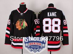 054f6671d New Player Stadium Series Black Jerseys Chicago Patrick Kane Blackhawks  Jersey  88 Men s Ice Hockey