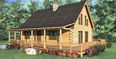Sonora Log Home Floor Plan Exterior