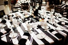 #black and #white tablescape (Photo by Jag Photography)
