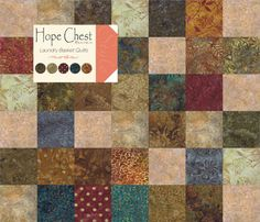 "Hope Chest Batiks Charm Pack Moda Fabrics 40 - 5"" Fabric Quilt Squares Kit New"