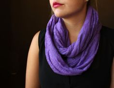 Burnout Knit Purple Circle Scarf  Infinity Scarf by slyscarves, $25.00
