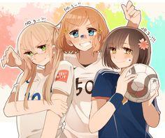 Hetalia Fem!America, Fem!Japan and Fem!England ⚽️