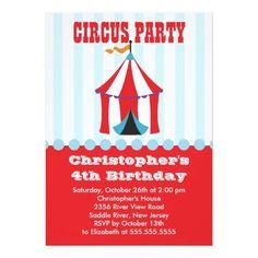 Circus Birthday Party Invitations | Dajon Design:} Circus