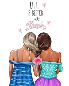 Life is better with friends Day your bestie nastyakosyanovaart art artist arti … Life is better with friends Tag your bestie nastyakosyanovaart art artist artistic artwork artworks dLife is better with friends Tag your bestie nastyakosyanovaart art ar Bff Pics, Bff Pictures, Best Friend Pictures, Best Friend Drawings, Girly Drawings, Pretty Drawings Of Girls, Friends Day, Cute Friends, Friendship Art