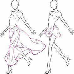 ideas for skirt tutorial drawing fashion sketches fashion drawing skirt new ideas for fashion drawing sketches ideas Drawing Base, Manga Drawing, Drawing Tips, Drawing Reference, Drawing Sketches, Art Drawings, Drawing Tutorials, Drawing Ideas, Sketching