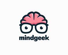 Logo Design: More Brains Website Design Inspiration, Logo Inspiration, Typography Logo, Logo Branding, Logo Design Examples, Logo Ideas, Logo Luxury, Brain Logo, Clever Logo
