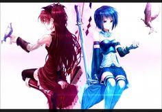 Kyoko and Sayaka     Puella Magi Madoka Magica Fan Art