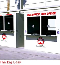 The Big Easy - Ticket booth that is portable and meet ADA requirements.  This unit has wheels that mechanically raise the booth up with a push of the button, then lower the booth into place for ADA Access without a ramp. Visit: http://www.bigbooth.com/security-booths/big-easy