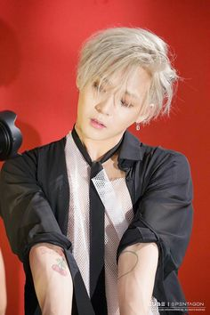 pentagon e'dawn aka hyojong tattoos! Triple H, K Pop, Pentagon Members, Gijinka Pokemon, Hyuna, Hip Hop, E Dawn, Cube Entertainment, Gwangju