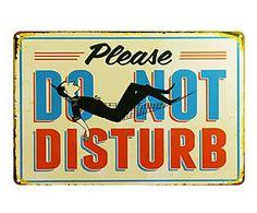 Chapa Retro Do not disturb - 20x30