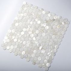 TST Mother Of Pearl Tiles White Hexagon Shinning Wall Deco Backsplash Shell