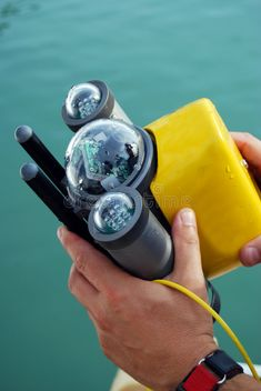 Photo about A little Rov (Remotely Operated Vehicle), an underwater mean guided through a wire. Image of underwater, wires, wire - 6733701 Latest Electronic Gadgets, Electronic Gifts, Clever Gadgets, High Tech Gadgets, Amazing Gadgets, Drone Technology, Technology Gadgets, Diy Electronics, Electronics Projects
