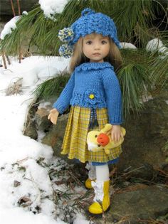 """~FRENCH COUNTRY PLEATS!~by Tuula fits Dianna Effner 13"""" Little Darling to a """"t""""!"""
