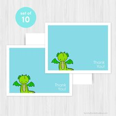 Thank You Cards Boxed Set of 10 Blank Notecards by SunnyDoveStudio