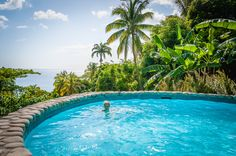 Sun, forest, Pitons, the sea and in the middle of it all: you, all alone, in your private pool at Stonefield Estate Resort, St. Lucia. Wish you were here?  #travel #caribbean #stlucia