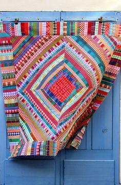 Quilt en tissus recyclés   Flickr - Photo Sharing!
