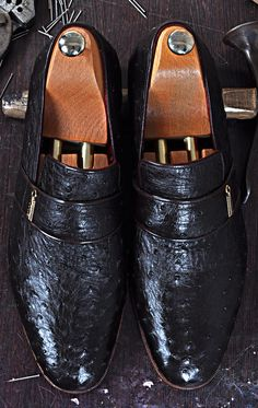 Mens Luxury Shoes : TucciPolo Dace Moccasin Genuine Ostrich Leather Mens Luxury Handmade Shoe
