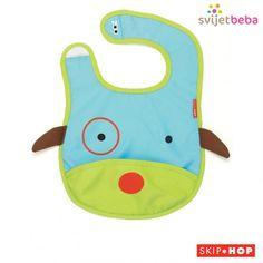 Skip Hop Zoo Little Kid and Toddler Tuck-Away Water Resistant Baby Bib Otis Owl