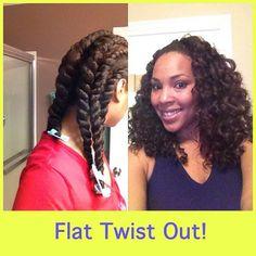 flat twist out