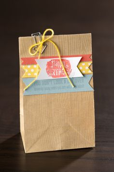 Quick and simple gift wrap.