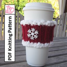 Christmas Coffee Cozy Knitting Pattern