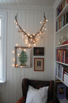 Decorate your decor with holiday lighting.