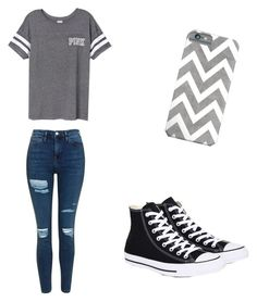 """Casual"" by basketballislife11 ❤ liked on Polyvore featuring Topshop, Victoria's Secret and Converse"