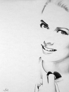 Incredible pencil work.  Grace Kelly Portrait Original Pencil Drawing Fine by IleanaHunter, $49.99