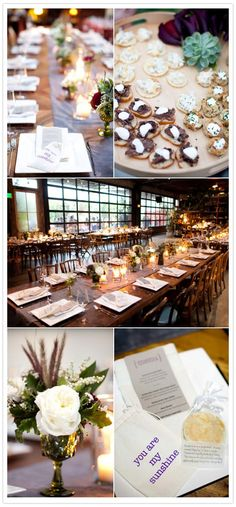 The venue is so lovely. I'm having a dalliance with those industrial garage doors to open the space into the outdoors.