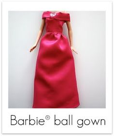barbie clothes ~ diy ~ how to make a barbie ball gown ~ pattern and tutorial ~ craftinessisnotoptional.com