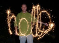 We could do long-exposure drawing but with glow sticks instead of sparklers.