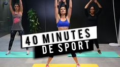 Fitness: 40 minutes of sport with Julie Ferrez! Sport Motivation, Fitness Motivation, Gym Direct, Video Sport, Work Out Routines Gym, Camisa Polo, Sports Memes, Sport Quotes, Yoga