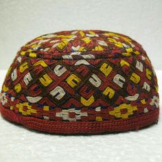 6c1b4168dd7 Vintage embroidery hats tribal hat antique hat by meryemart