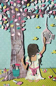Paint Your World  3D paper cut wall art www.roxyoxy.com.au