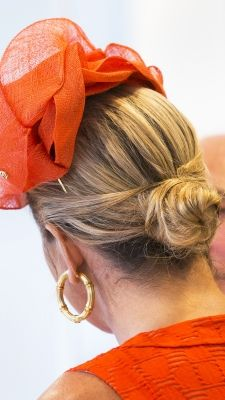 Queen Maxima Of The Netherlands opens the academic year at Wageningen University wearing a chic ladylike bun.