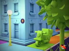 Toy City by Alex Dorin, via Behance