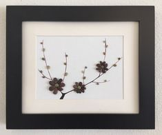 Pebble Art/ Home Decor/ Beach Decor/ Canvas Art/ Framed Art/ Tree Blossom/ Mixed Media Art/ Pen Drawing