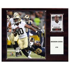 C and I Collectables NFL 15W x 12H in. Brandin Cooks New Orleans Saints Player Plaque - 1215COOKS