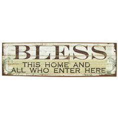 Bless... sign