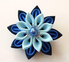 Men's Flower Lapel Pin. Kanzashi  fabric flower brooch . Kanzashi flower lapel pin. Boutonniere lapel pin. Handmade Wedding Boutonniere. by JuLVa on Etsy https://www.etsy.com/listing/250516352/mens-flower-lapel-pin-kanzashi-fabric