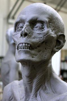 ArtStation - Dark Shadows / Vampire Victim Sculpt, Hatch Effects Sculptures Céramiques, Sculpture Clay, Arte Horror, Horror Art, Arte Zombie, Anatomy Sculpture, Anatomy Poses, Vampire, Maquillage Halloween