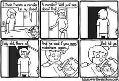 Haha, interesting parenting technique!