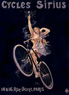 Nudity, bicycles, Paris, art nouveau elements, joy: definitely my style. vintage bicycle ad