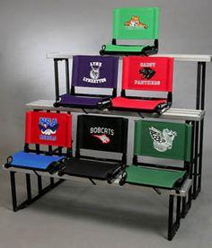 Personalized Stadium Seats for Bleachers Stadium Seats For Bleachers, Stadium Chairs, Stadium Cushions, School Football, School Sports, School Spirit Wear, Football Spirit, Kids Soccer, School Fundraisers