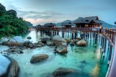 Pangkor Laut - Sea bungalows. I miss this place so much.
