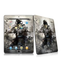 Future Soldier Design Protective Decal Skin Sticker for Apple iPad 1st Gen Tablet E-Reader by MyGift. $19.99. This scratch resistant skin sticker helps to protect your Apple iPad 1st Generation Tablet E-Book Reader while making an impression. Self-adhesive plastic-coated skins cover the front and back of the Apple i-Pad 1 and are custom cut to perfectly fit the iPad. Skins are paper-thin so they do not add any bulk. Each design is digitally printed in vibrant, art-qu...