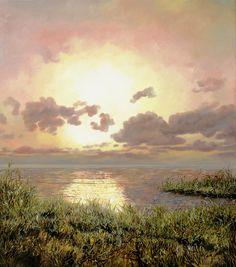 Alba Nella Palude Painting by Guido Borelli